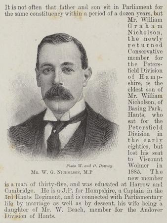 Mr W G Nicholson