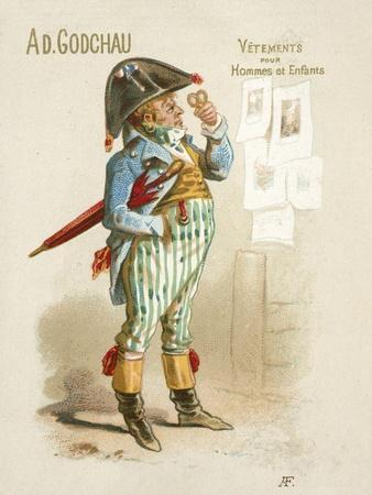 Advertisement for Ad Godchau Men's and Children's Clothes