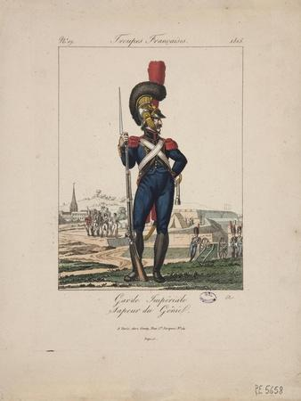 Sapper of the Imperial Guard, French Troops, No.19, 1815