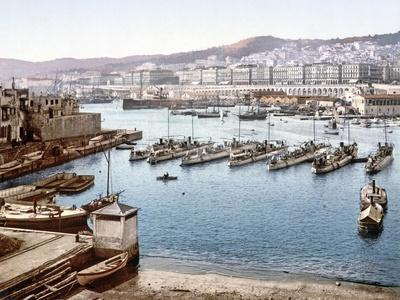 View of Algiers Harbour from the Admiralty, Pub. 1900