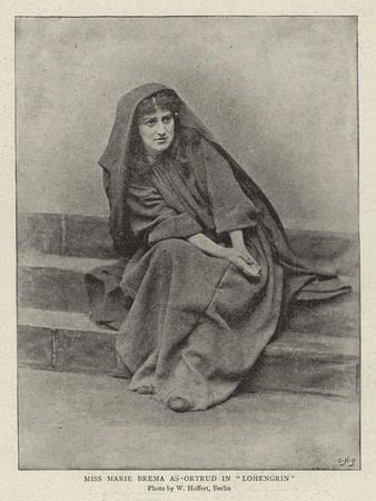 Miss Marie Brema as Ortrud in Lohengrin