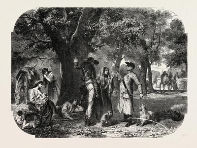 School Baden and Nassau. Gypsies, 1855