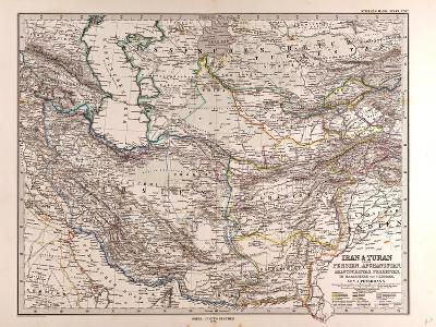 Map of Iran, 1876
