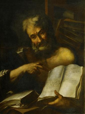 Study of a Man's Head: One of the Fathers, 1699