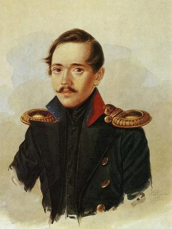 Portrait of Mikhail Lermontov, C.1838