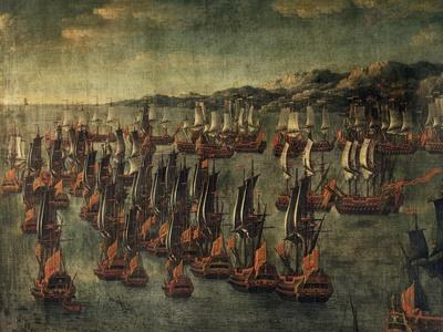 Vessels Positioned for Deployment, Oil Painting, Italy, 18th Century