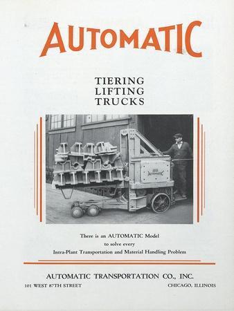 Automatic Transportation Company's Tiering Lifting Trucks
