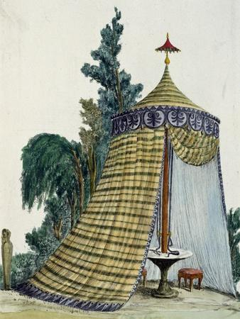 Chinese Pavilion in Garden, Circa 1810, Italy, 19th Century