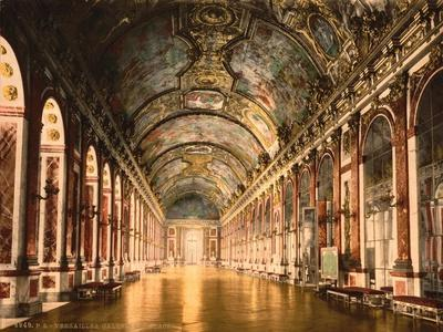 Gallery of Mirrors, Versailles, France, C.1890-C.1900