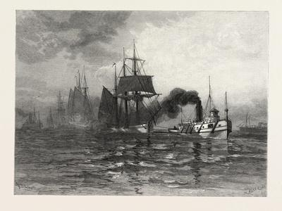 A Tow on Lake St. Clair, Canada, Nineteenth Century