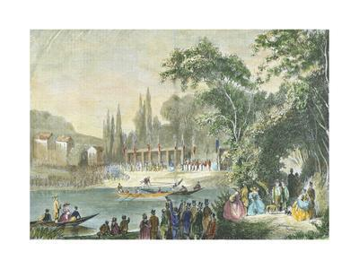 Boat Races at Ville D'Avray, France 19th Century