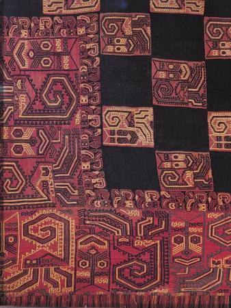 Detail of Fabric for Funeral Cloak, from Peru