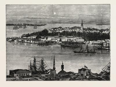 View of Seraglio Point, Constantinople, Istanbul, Turkey