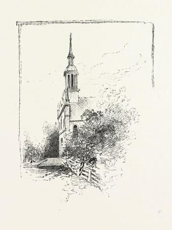 Old Church at Iberville, Canada, Nineteenth Century