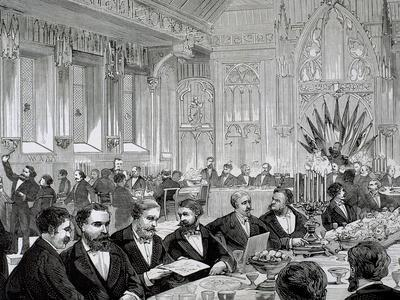 Belgium. Banquet. Town Hall of Brussels, 1888