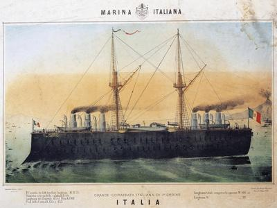 Battleship Italia, Color, Italy, 19th Century