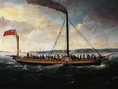 Steamship British Queen, 1838, by Unknown Artist, 19th Century