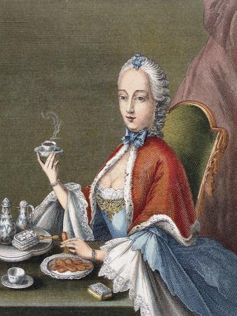 Lady Pouring Coffee, 1700 - 1740, Germany, 18th Century