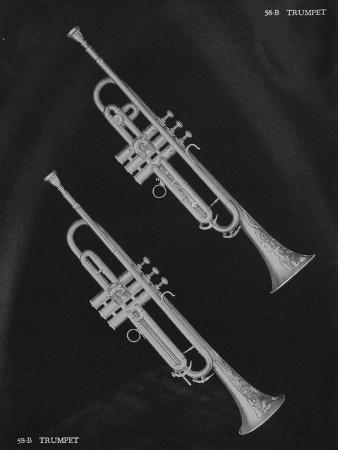 A Charles Gerard Conn 56-B Trumpet and a 58-B Trumpet