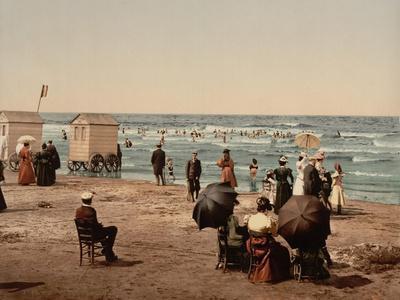 The Beach, Blankenberghe in Belgium, C.1890-C.1900
