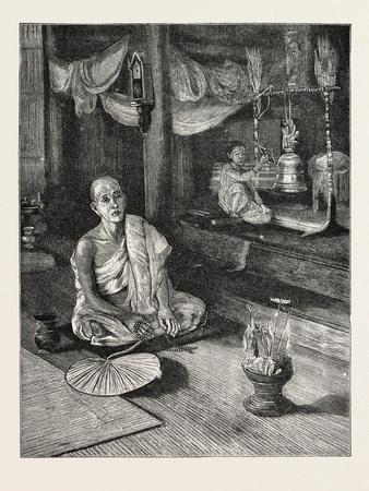 A Call to Worship (Interior of Buddhist Monastery)