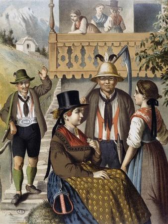 Local Costumes from Pinzau Region, Salzburg Province, 1870