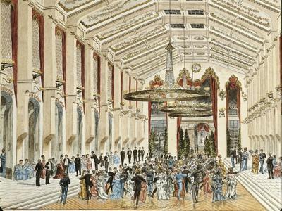 Austria, Vienna, Interior of Sofienbad Saal Ballroom, 1870