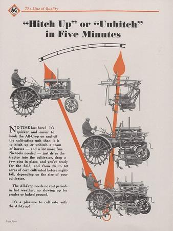 Allis Chalmers All-Crop Tractor with Power Lift