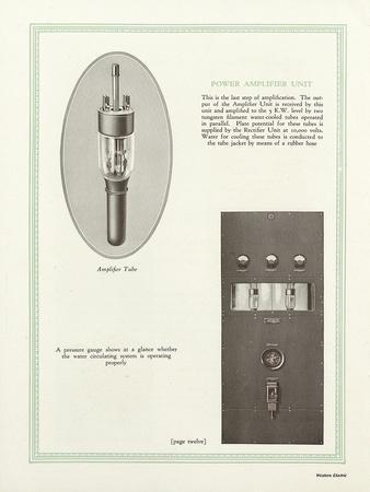 Western Electric Company's Power Amplifier Unit