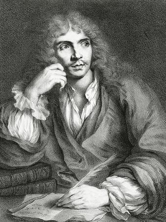 Portrait of Jean-Baptiste Poquelin, known as Moliere,