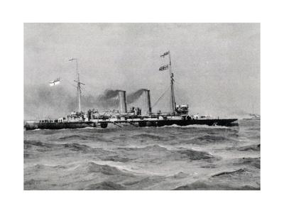British Cruiser Hawke First Class, Photo by Danesi, 19th Century