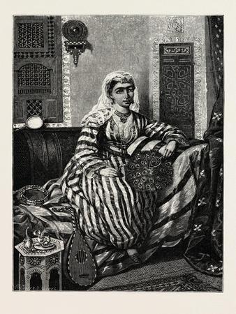 Almas, a Distinguished Ahab Singer, Egypt, 1879