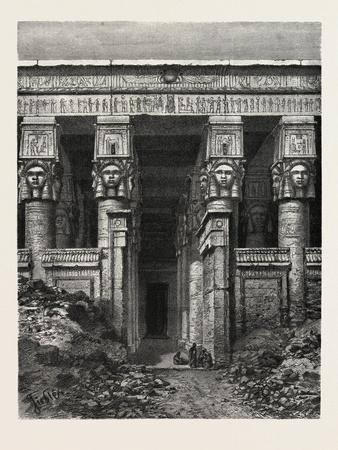 The Great Court of Heaven, Dendera. Egypt, 1879