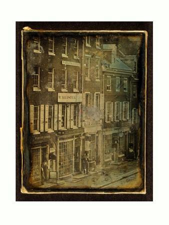 Chestnut Street, Philadelphia, Pennsylvania, 1843, USA, America