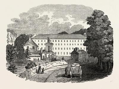 The First Cotton Mill at Cromford, Derbyshire, England, UK