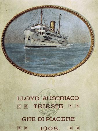 Leisure Trips, Austrian Lloyd Trieste Brochure, 1908