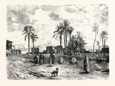 Cairo; from the Left Bank of the Nile, Egypt, 1879