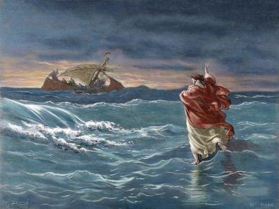 Jesus Walks on the Water of the Sea of Galilee
