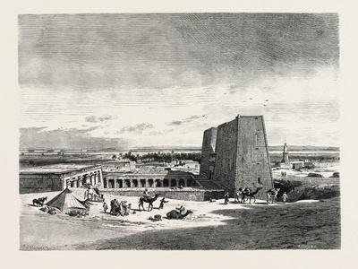 Temple of Edfoo, Egypt, 1879
