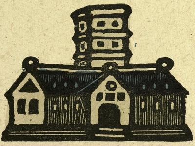 Illustration of English Tales Folk Tales and Ballads. a Building