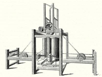 Mechanism of Miller Taylor and Symington's Steamboat's Engine