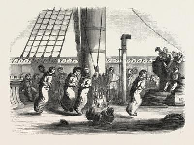 Recreations Aboard the Friedland: the Bags Race, 1855
