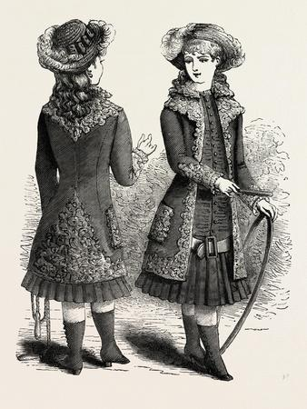 Costume for Girl of Ten Back and Front, Fashion, 1882