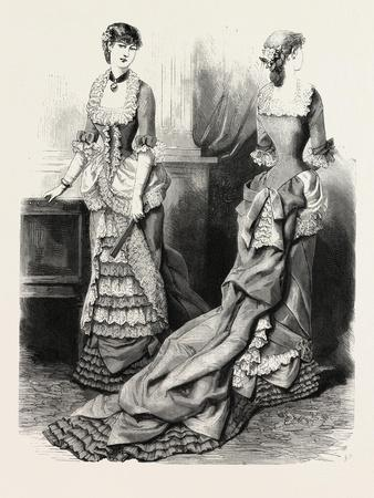 Evening Toilette Front and Back, Fashion, 1882