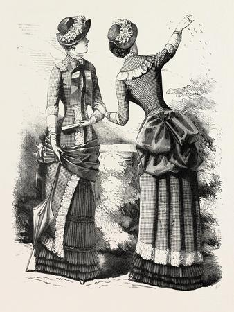 Autumn Costume Front and Back, Fashion, 1882