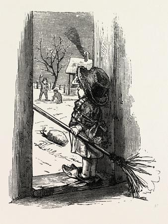 Cleaning the Doorstep, Child, 1882