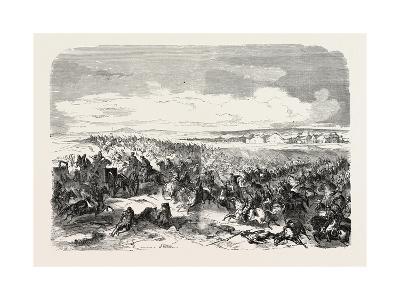 Battle of Koughil. the Crimean War, 1855
