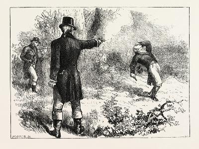 Duel Between Burr and Hamilton, 1870s
