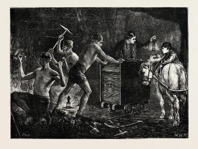 Pitmen Hewing the Coal in a Mine, 1871