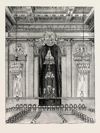 Interior of Goldsmith's Hall 1876 London